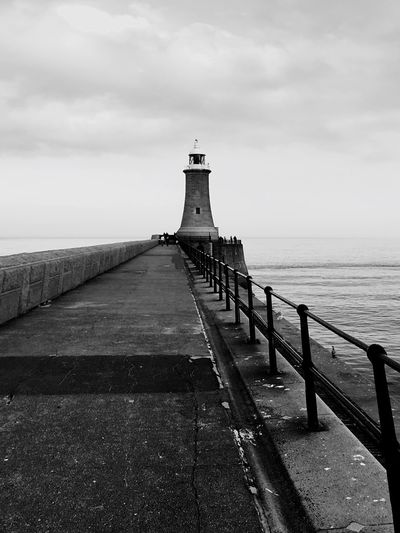Tynemouth  Lighthouse Pier North Sea Remote Calm Sea Iphone 6 Smartphonephotography Monochrome Architecture_bw North Tyneside EyeEm Abandoned EyeEm Best Shots Amazing View Beautiful Scenery