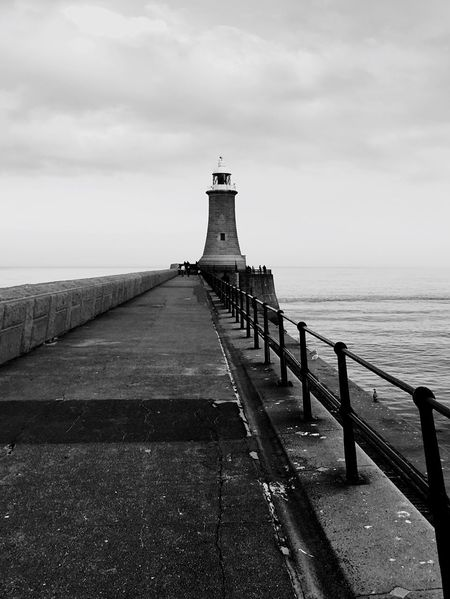 Tynemouth  Lighthouse Pier North Sea Remote Calm Sea Iphone 6 Smartphonephotography Monochrome Architecture_bw North Tyneside EyeEm Abandoned EyeEm Best Shots Amazing View Beautiful Scenery