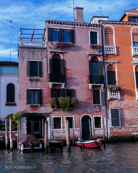 Venice, Italy Architecture Building Exterior Built Structure Nautical Vessel Transportation Window Boat Mode Of Transport Water Canal Waterfront Day Outdoors Blue City Life No People Sky People And Places Canonphotography Beautifull