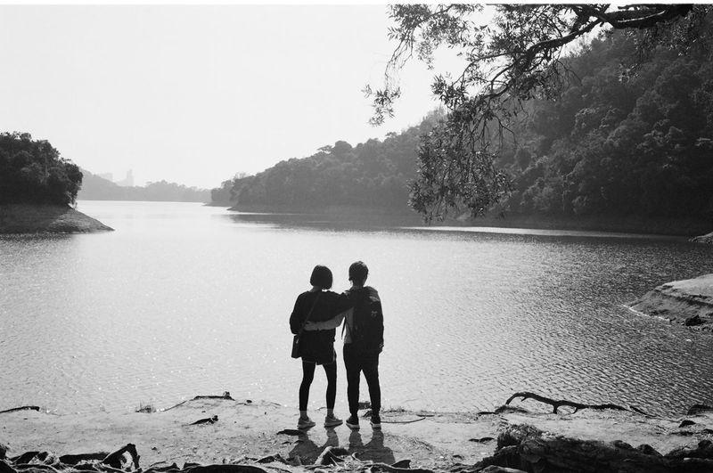 Couple Hiking Hk Hong Kong HongKong Nature Sunny Film Photography Lake Lake View