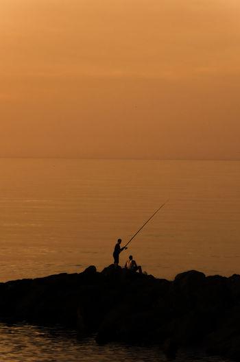 Silhouette EyeEm Best Shots Sunset Sea Waiting Game