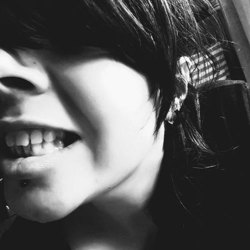 Myself Psycho Sociopath Mad Girl Myself Selfie ✌ Teeth Piercing Labret Human Eye Beautiful Woman Women Human Face Headshot Human Lips Front View Close-up Eyelash