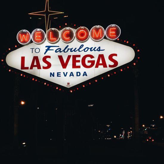 Vegas baby Las Vegas Text Communication Western Script Illuminated Night No People Sign