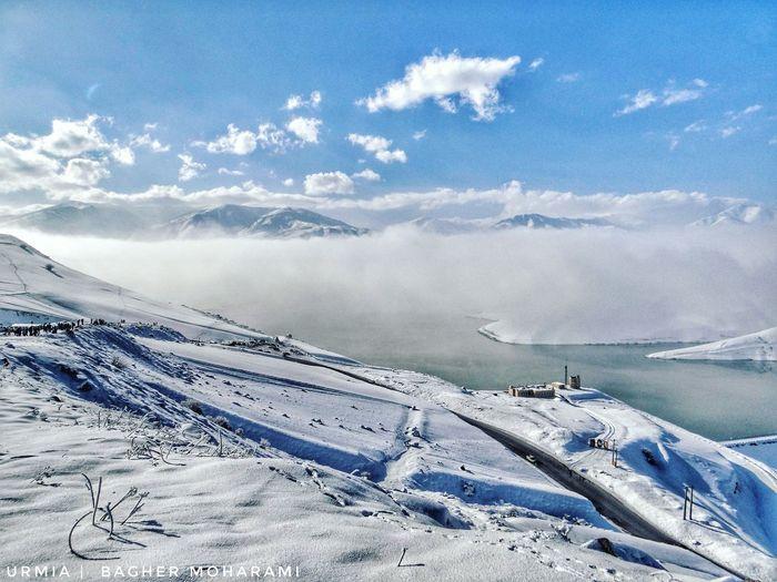 #برف ، #آب ، #کوه ، #ابر و #خورشید ، همه در یک #تصویر جمع شده اند تا ما یک #روز پر از #شادی را #تجربه کنیم. بیایید قدر این #لحظه ها را بدانیم. سد #شهرچایی ، #بند ، #ارومیه #زمستان نودوپنج #Snow , #Water , #Mountain, #cloud and #sun , all in one image have come together to give us a experienc day of happiness . Let's appreciate this moment to know. band , urmia ; winter 2016 ourworld mycity urmiametropolis Snow Winter Cold Temperature Nature Sky Beauty In Nature Cloud - Sky Day Outdoors Scenics No People