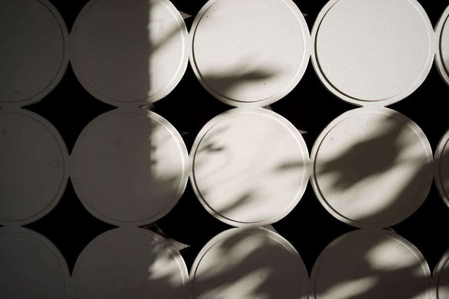 Architecture Facade Detail Full Frame Backgrounds Repetition Side By Side In A Row No People Close-up Pattern Still Life Shape Circle Geometric Shape Arrangement Design