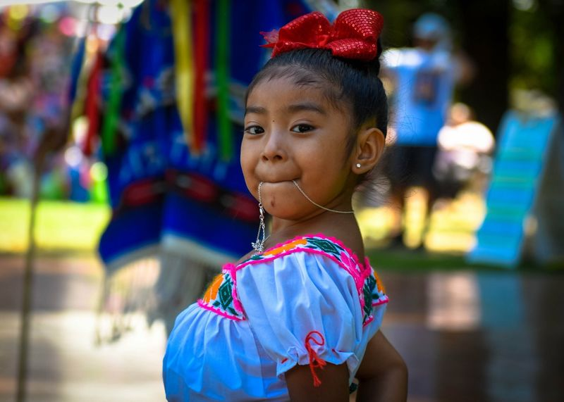 Fiesta Mexicana Childhood One Person Real People Lifestyles Child Leisure Activity Focus On Foreground Cute Girls Portrait