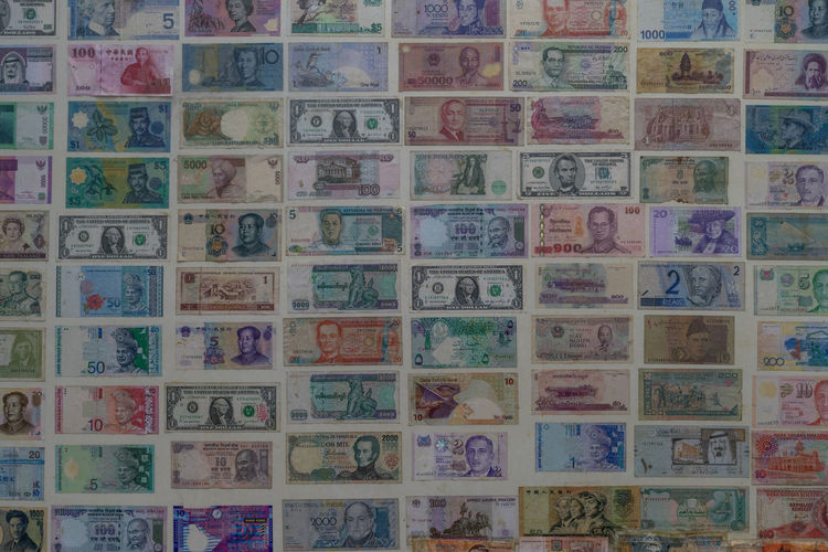 Collection of Currency from Asian Countries Backgrounds Full Frame Pattern Multi Colored No People Design In A Row Art And Craft Creativity Craft Communication Shape Architecture And Art Currency Ijas Muhammed Photography ASIA Economic Money Notes India Thailand Malaysia Bangkok China Japan