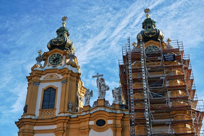 Austria Photos Melk Stift Abbey Architecture Travel Outdoors Hanging Out Clouds And Sky Cloudpark Light And Shadow Historic Site Taking Photos A Point Of View Streamzoofamily The Architect - 2017 EyeEm Awards