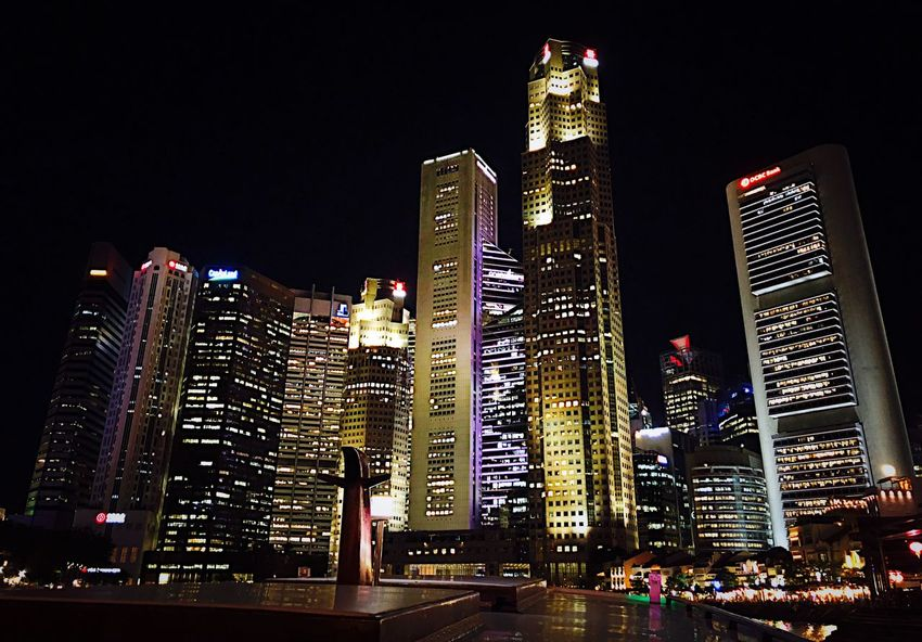 Singapore Building Exterior Architecture Illuminated Built Structure Night City Office Building Exterior Cityscape Sky Tower No People Skyscraper Tall - High City Life Building Modern Office Nature Urban Skyline Financial District