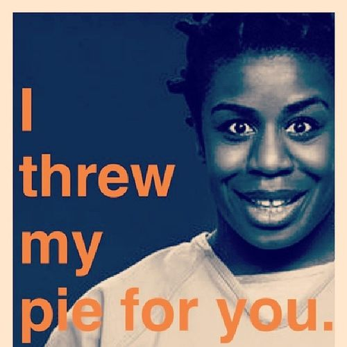 Wcw crazy eyes (: she cracks me up. I love watching her in orange is the new black <3 Oitnb Crazyeyes Lesbian Womancrush cutie hilarious