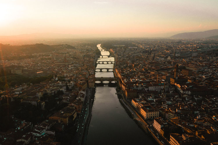 Sunset over Florence, Italy Week On Eyeem Florence Florence Italy Italy Mavic Pro 2 Dji Architecture Drone  Drone Photography Flower Cityscape City Sunset Built Structure Travel Destinations High Angle View Water Outdoors Aerial View Residential District Sky Autumn Mood