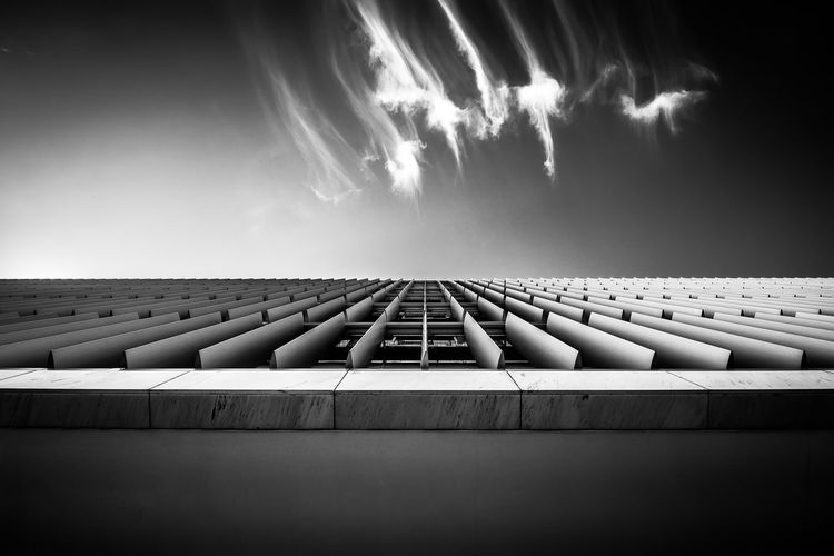"""The Architect - 20I6 EyeEm Awards"" Architecture Monochrome Photography Monochrome Oporto, Portugal Sky Skyline Pivotal Ideas Blackandwhite City Skyline"