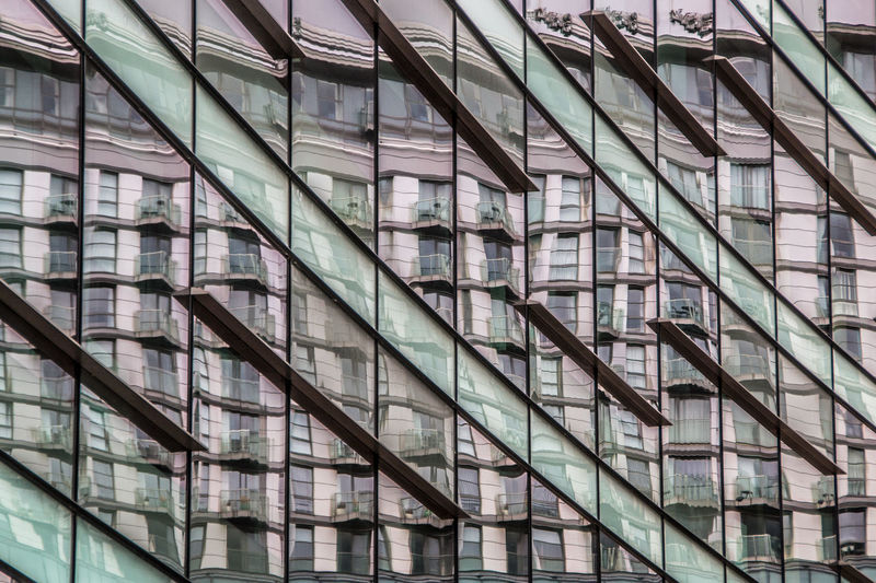 Built Structure Architecture Building Exterior Glass - Material Building Modern City No People Full Frame Low Angle View Office Building Exterior Backgrounds Pattern Office Day Window Outdoors Design In A Row Reflection Geometric Abstraction Verticals Diagonals