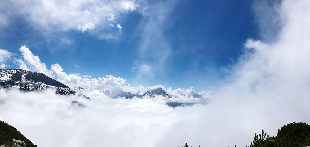 Berchtesgaden Land / Obersalzberg Cloud - Sky Low Angle View Nature No People Day Mountain Sunlight Idyllic Scenics - Nature