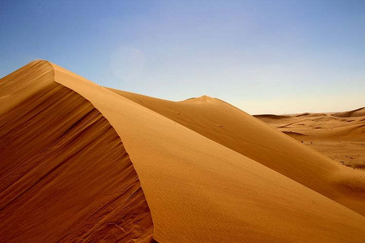 Low angle view of sand dune