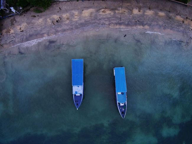 baby blue DJI X Eyeem EyeEm Best Shots EyeEmNewHere EyeEm Selects Dronephotography Midrone Seaside Bunaken Nautical Vessel Aerial View Freight Transportation Water Outdoors Above Sea No People An Eye For Travel