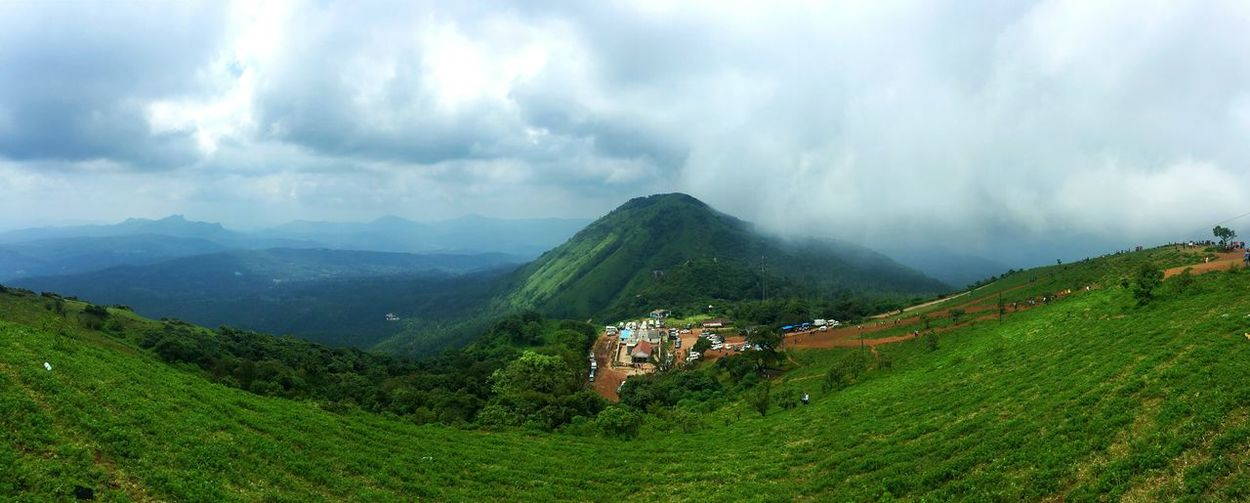 EyeEm Selects Cloud - Sky Landscape Panaroma Nature Mountain Outdoors Fog Day Sky Mountain Range Tree Beauty In Nature Travel Destinations Social Issues Iphone6plus IPhoneography Karnatakatourism