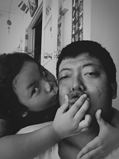 Self Portrait Around The World Self Portrait Around The World ,Eye to Eye , Eyes Contact , Dady and Daughter , Family , Daughter , Selfie , PaPa and I , Live to Learn ,Fatherhood , children , Child , Asian , Asian Family , Black and White , eyeem, What I Value , my selfie , apple in my eyes , missing you , Fatherhood Moments