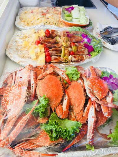 Food Thailand Seafood Food And Drink Indoors  Seafoods Freshness Ready-to-eat Serving Size Plate Wellbeing Indoors  Close-up Meal Still Life Kitchen Utensil Temptation Vegetable Salad Orchid Flower Crab Friedrice BBQ Sea