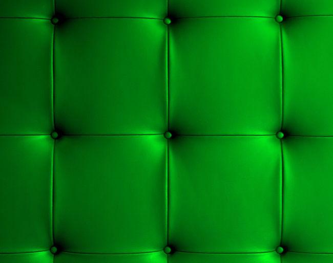 Full frame shot of green sofa