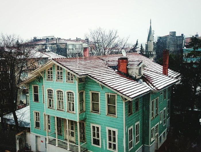Istanbul City Karyağınca Dışarıdakaryağıyor Snow ❄ Historical Building Istanbul Turkey Kış