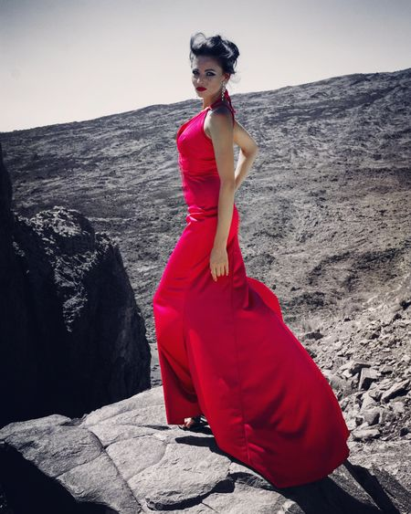 Dress Red Only Women Fashion Model Fashion Elégance Beautiful People Tenerife España Canon_photos Beauty Lips Cute