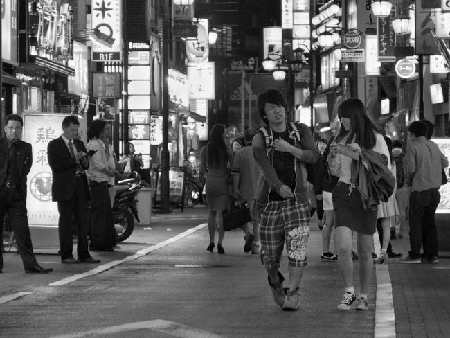 City Street City Life Walking Night City Street Illuminated Crowd People Streetphotography_bw B&w Street Photography On The Road Snapshot CityWalk Nightphotography Kichijoji 吉祥寺 Tokyo Japan