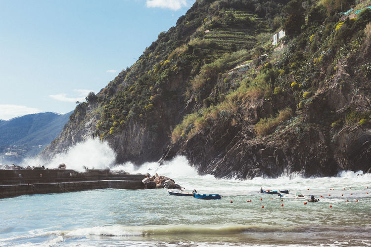 Adventure Beach Beauty In Nature Day Italy Landscape Motion Mountain Nature Nautical Vessel No People Outdoor Photography Outdoors Scenics Sea Sky Travel Travel Destinations Tree Vacations Water