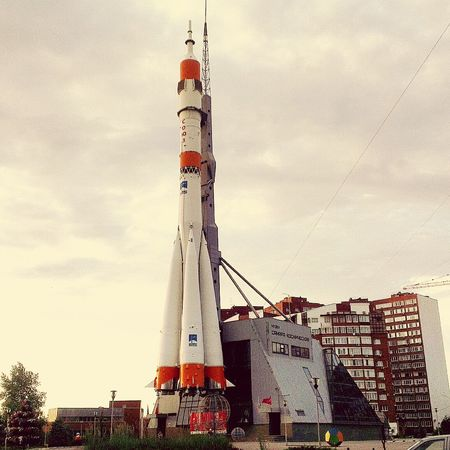 Rocket Samara, Russia Monument Cityview