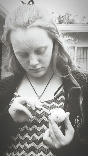 Woman Holding Easter Egg