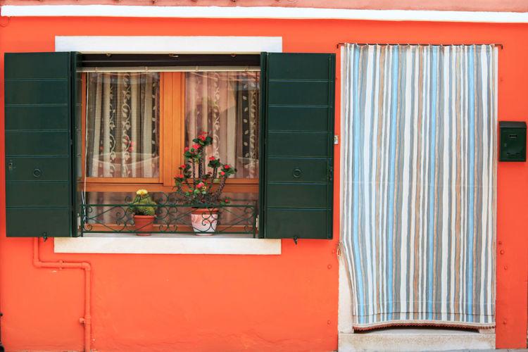 Exterior of orange house