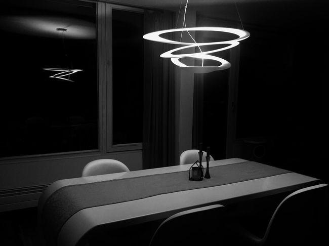 Lighting Equipment Indoors  Illuminated No People Artemide Artemide Pierce Lamp Dining Table Dining Room Shadow