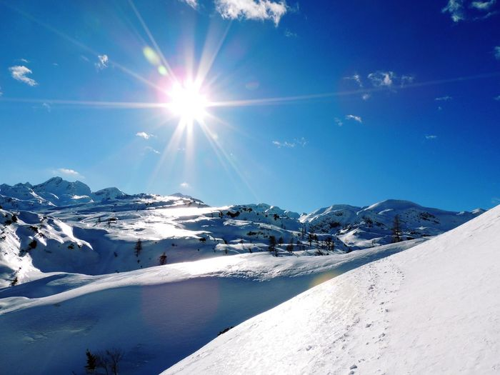 Komna Sunlight Sky Sun Snow Beauty In Nature Winter Scenics - Nature Sunbeam Cold Temperature Lens Flare Nature Day Mountain Tranquil Scene Tranquility Sunny Environment Non-urban Scene Bright Snowcapped Mountain No People Outdoors Solar Flare Slovenia Slovenian Alps Capture Tomorrow