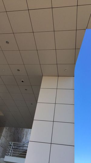 Architecture Built Structure Low Angle View Ceiling Modern Indoors  Architectural Feature Architectural Design Day Office Building No People Geometric Shape Interior Los Angeles, California The Getty, Los Angeles Thegettymuseum Gettymuseum The Getty Museum The Getty Villa The Getty Center