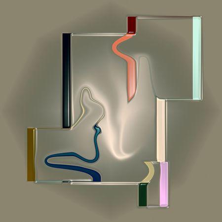 Inner chaos Abstract Surrealism Modern Minimalism Graphic Digital Art Art Artist Tender