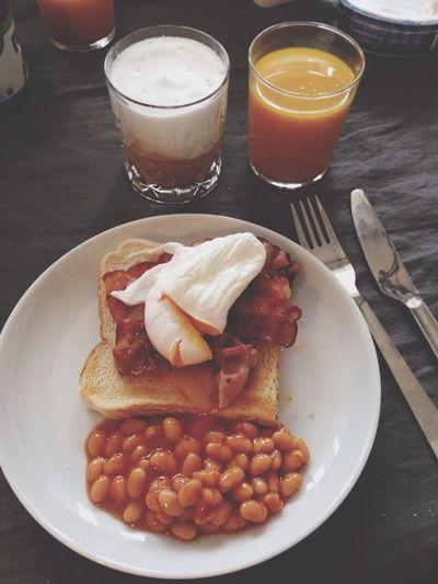 Breakfast Eggs Benedict Food Porn Bacon