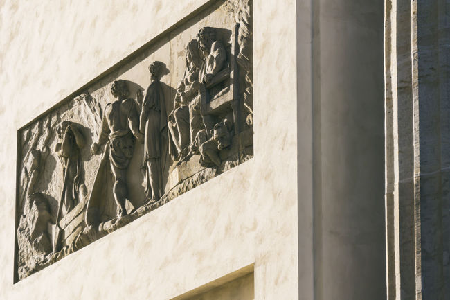 Bas relief on Brandenburg Gate Berlin Brandenburg Gate Germany 🇩🇪 Deutschland Architecture Art And Craft Bas Relief Building Building Exterior Built Structure Color Image Day History Human Representation Human Representations Low Angle View Nature No People Outdoors Sunlight Wall Wall - Building Feature Window