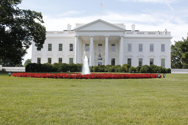 Washington, D. C. Architectural Column Architecture Building Building Exterior Built Structure Day Façade Front Or Back Yard Government Grass History Lawn Nature No People Outdoors Plant Sky The Past Travel Destinations Tree White House
