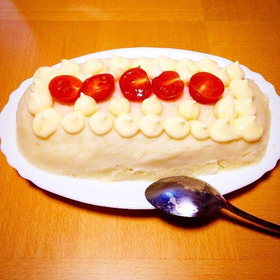Breakfast Potato Cake Handmade Husband ケーキ Cristmas ご飯 朝ごはん サラダ じゃがいも ピラフ MashedPotato  ポテトサラダ ポテト 旦那 創作料理