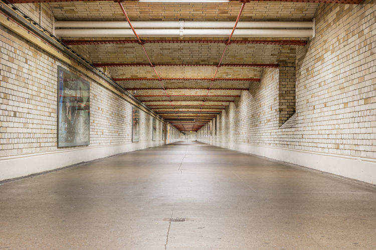 Interior of empty corridor