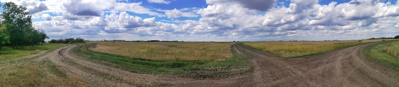 Horizon Plain HuaweiP9 Mobilephotography Huawei P9 Leica Grass June Sky Sky And Clouds Sky And Land Mere Rural Scene Panoramic Agriculture Tree Field Sky Landscape Cloud - Sky Tire Track Plowed Field Empty Road Farmland Dirt Road Country Road