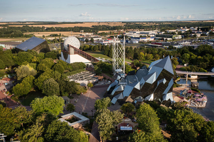 Futuroscope Theme Park Futuroscope Theme Park | Poitiers - France Futuroscope2017 Leisure Park Architecture Building Exterior Built Structure City Cityscape Day Green Color Growth High Angle View Nature No People Outdoors Sky Tree