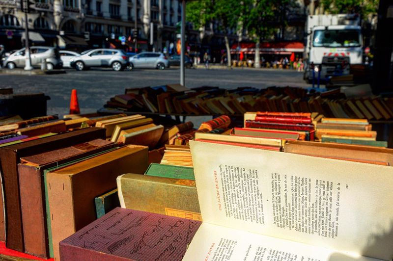 Flying pages Books City Transportation Car Street Architecture City Street