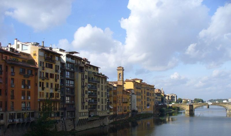Water Building Exterior Florence Florence Italy Italy Sky Architecture Built Structure City Cloud - Sky Outdoors Day No People