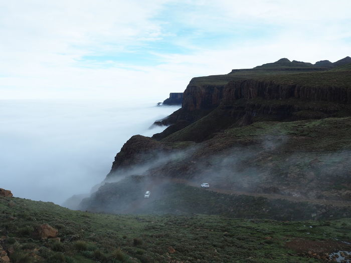 Sani pass and the fog