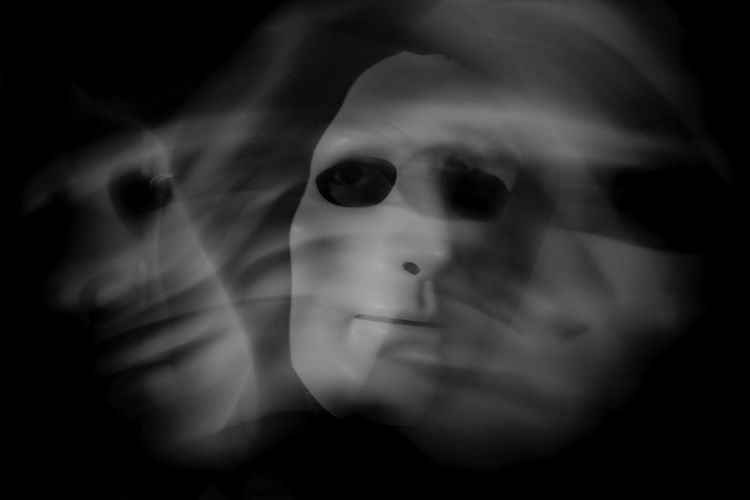 Haunted strobe mask. [24/365] 2016.11.2 Today I was too occupied with different tasks and it was raining heavily outside (still is) so I only managed to do this simple shot indoors. Black And White Black Background Blackandwhite Close-up Dark Day Flash Ghost Ghosts Haunted Horror Indoors  Looking At Camera M Mask Masked Maskedportraits One Person Portrait Strobe