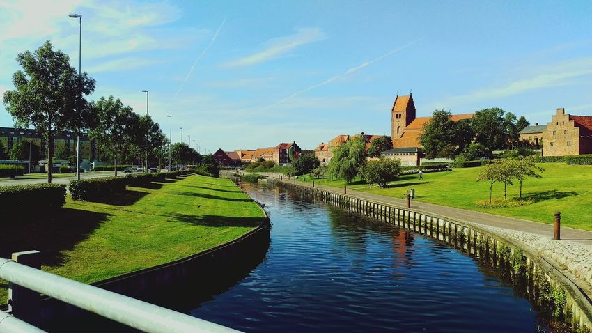 Sunny day in Næstved Sun Warm Walking Around Architecture Tranquil Days Green Color Canal Tree Tourism