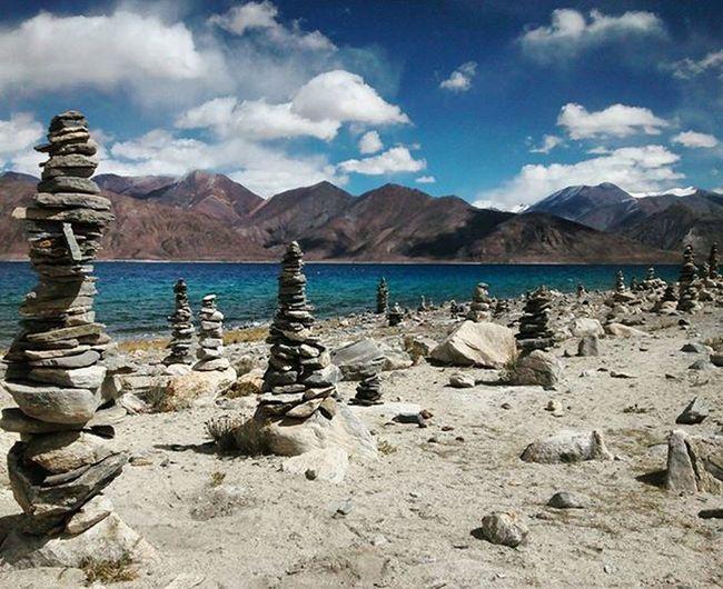 Prayerstone Prayerstones Tibetan  Pangonglake Ladakhdiaries Ladakh JammuandKashmir