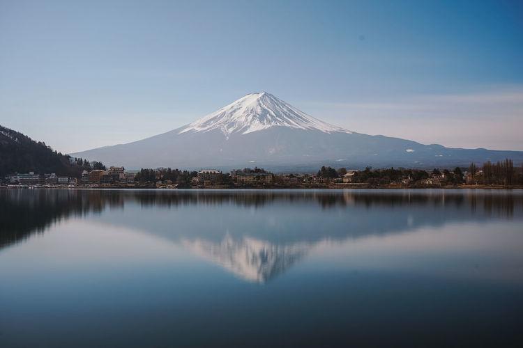 Scenic view of  fujiyama