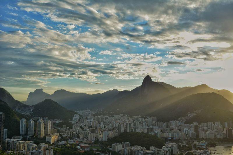 Rio De Janeiro Riodejaneiro Pão De Açucar Cristo Redentor-Río De Janeiro Cristo Redentor Cloud - Sky Mountain Tourism Travel Travel Destinations Day Landscape Sky Urban Skyline